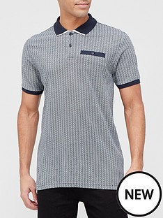 very-man-geo-printed-polo-shirt-blue