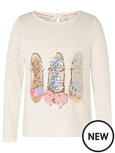 monsoon-girls-sparkle-shoe-long-sleeve-top-ivory