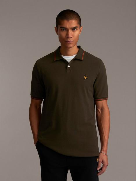 lyle-scott-tipped-collar-polo-shirt-green