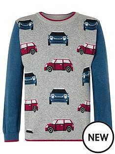 monsoon-boys-car-knitted-jumper-grey