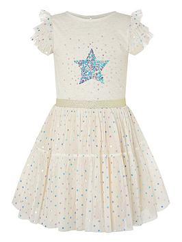 monsoon-girls-metallic-disco-star-foil-dress-pink