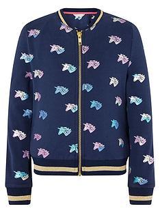 monsoon-girls-sustainable-rainbow-foil-unicorn-bomber-jacket-navy
