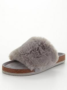 v-by-very-vox-faux-fur-slider-slipper-grey