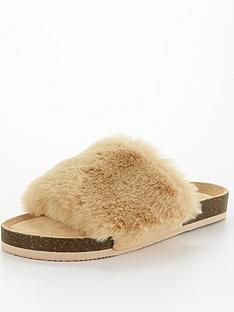 v-by-very-vox-faux-fur-slider-slipper-camel