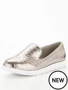 v-by-very-nutmeg-weave-flatform-loafer-pewter