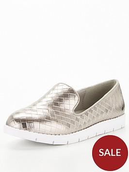 v-by-very-weave-flatform-loafer-pewter
