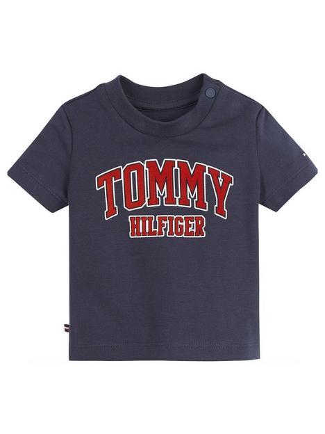 tommy-hilfiger-baby-logo-short-sleeve-t-shirt-navy