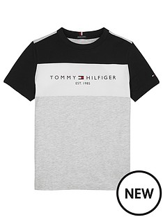 tommy-hilfiger-boys-essential-colourblock-short-sleeve-t-shirt-grey