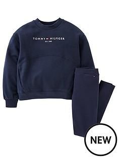 tommy-hilfiger-girls-essential-hwk-cn-legging-set-navy