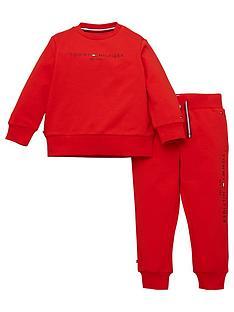 tommy-hilfiger-baby-unisex-essential-jog-set-red
