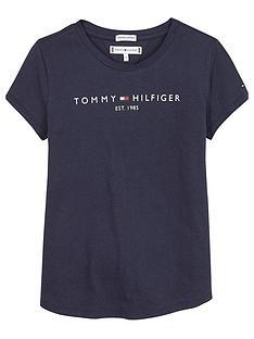 tommy-hilfiger-girls-essential-short-sleeve-t-shirt-navy