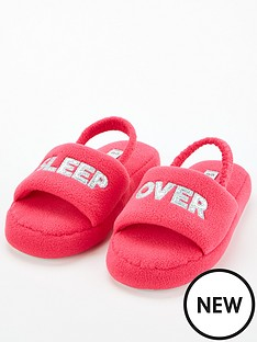 v-by-very-girlsnbspsleep-over-slogan-slippers-pink