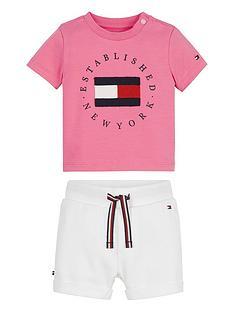 tommy-hilfiger-baby-girls-established-sweat-shorts-set-pinkwhite