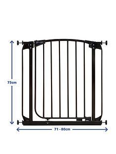 dreambaby-chelsea-auto-close-curved-top-gate-71-80cm-black
