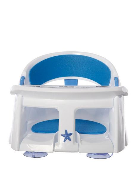 dreambaby-deluxe-bath-seat-with-foam-padding-and-heat-sensor-bluewhite