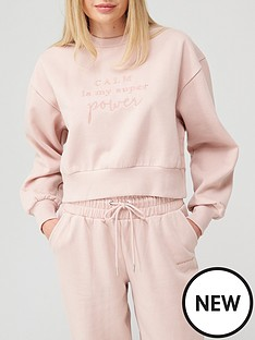 boux-avenue-boux-avenue-calm-is-your-superpower-sweat-pink