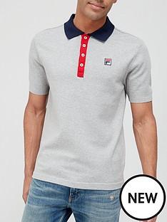 fila-santiago-knit-polo-shirt-grey