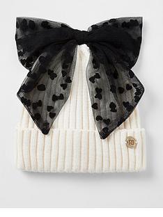 river-island-mini-mini-girls-mesh-bow-beanie-hat-cream