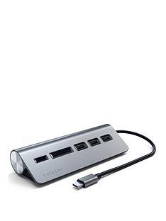 satechi-satechi-type-c-aluminum-usb-hub-card-reader-space-grey