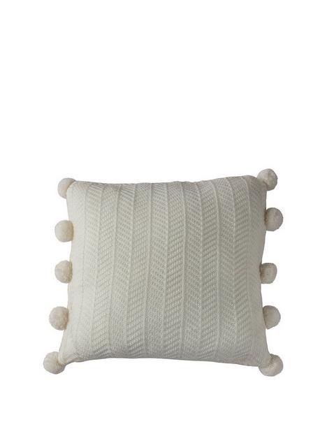 gallery-herringbone-pom-pom-cushion-cream