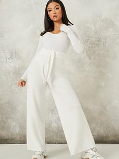 missguided-missguided-rib-recycled-wide-leg-trouser-white