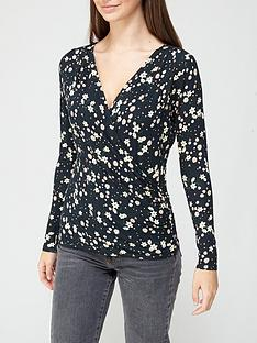 v-by-very-long-sleeve-gathered-wrap-top-black-floral