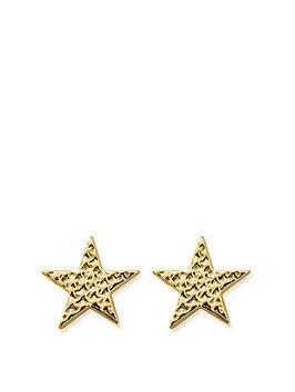chlobo-chlobo-sterling-silver-gold-plated-sparkle-star-stud-earrings