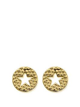 chlobo-chlobo-sterling-silver-gold-plated-sparkle-star-in-circle-earrings