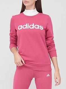 adidas-essentials-linear-sweatshirt-pinknbsp