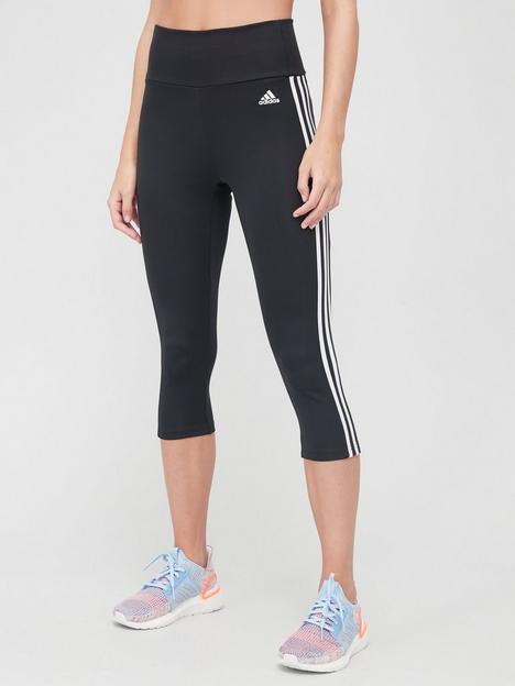 adidas-3-stripe-34-leggings-black