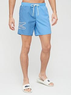 lacoste-oversized-croc-detail-swim-shortsnbsp--blue