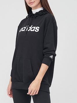 adidas-essentials-linear-oversized-hoodie-blackwhitenbsp
