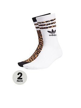 adidas-originals-adidas-originals-leopard-lux-2-pair-crew-socks