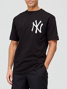 new-era-mlb-nynbspchest-logo-t-shirtnbsp--blackwhite