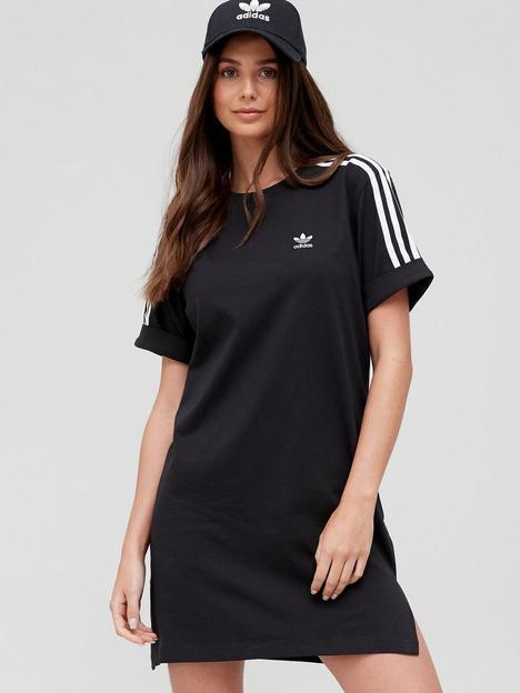 adidas-originals-3-stripe-tee-dress-black