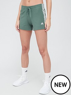 adidas-3-stripe-shorts-greennbsp