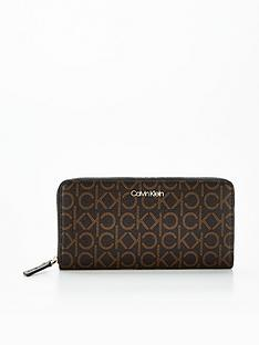 calvin-klein-monogram-logo-purse-brown