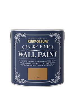 Product photograph showing Rust-oleum Chalky Finish 2 5-litre Wall Paint Ndash Dijon