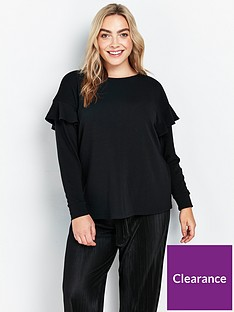 evans-ruffle-sweat-top-black