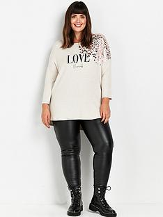 evans-love-yourself-leopard-sparkle-t-shirt-taupe