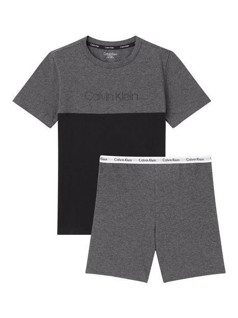 calvin-klein-boys-logo-short-pjnbspset-grey-marl
