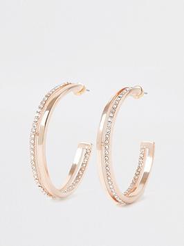 river-island-double-diamante-hoop-earring-rose-gold