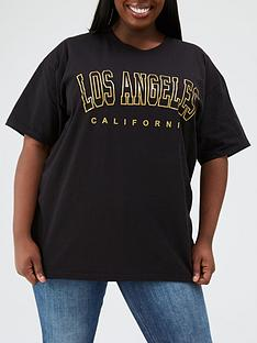 ax-paris-curve-la-printed-t-shirt-black