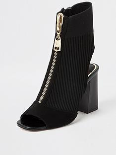 river-island-knitted-shoe-boot-black