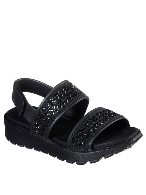 skechers-footsteps-rhinestone-molded-sling-back-flat-sandal-black