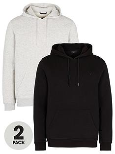 very-man-essential-2-pack-over-head-hoodie-blackgrey-marl