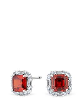 simply-silver-sterling-silver-cubic-zirconia-red-square-halo-stud-earrings