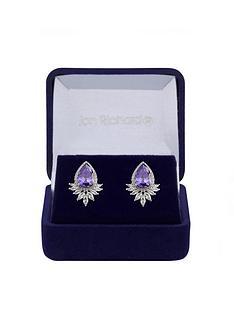 jon-richard-rhodium-plated-tanzanite-peardrop-earrings