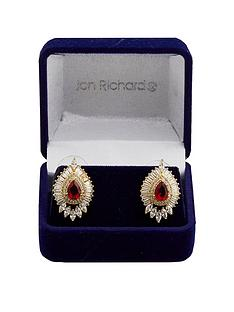 jon-richard-gold-plated-red-baguette-earrings