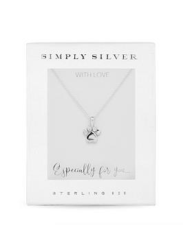 simply-silver-sterling-silver-cubic-zirconia-paw-print-necklace